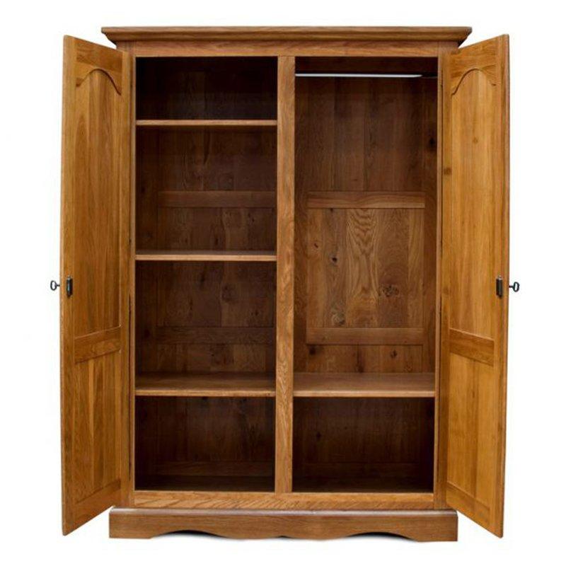 armoire 2 portes chene moyen maison et styles. Black Bedroom Furniture Sets. Home Design Ideas