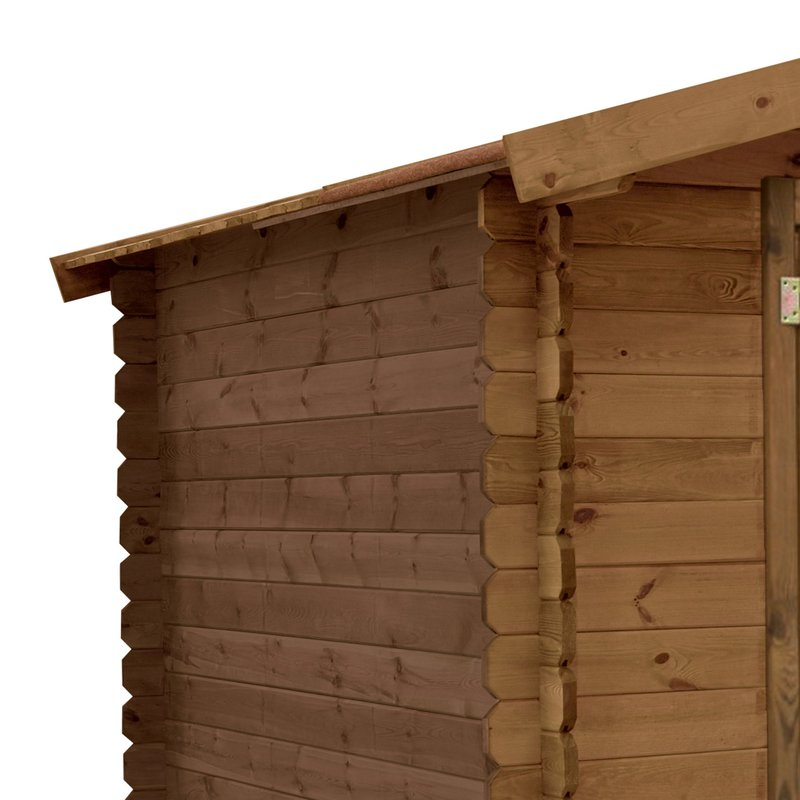 Abri de jardin madeira monda pin trait autoclave emboit for Garage bois autoclave 20 m2