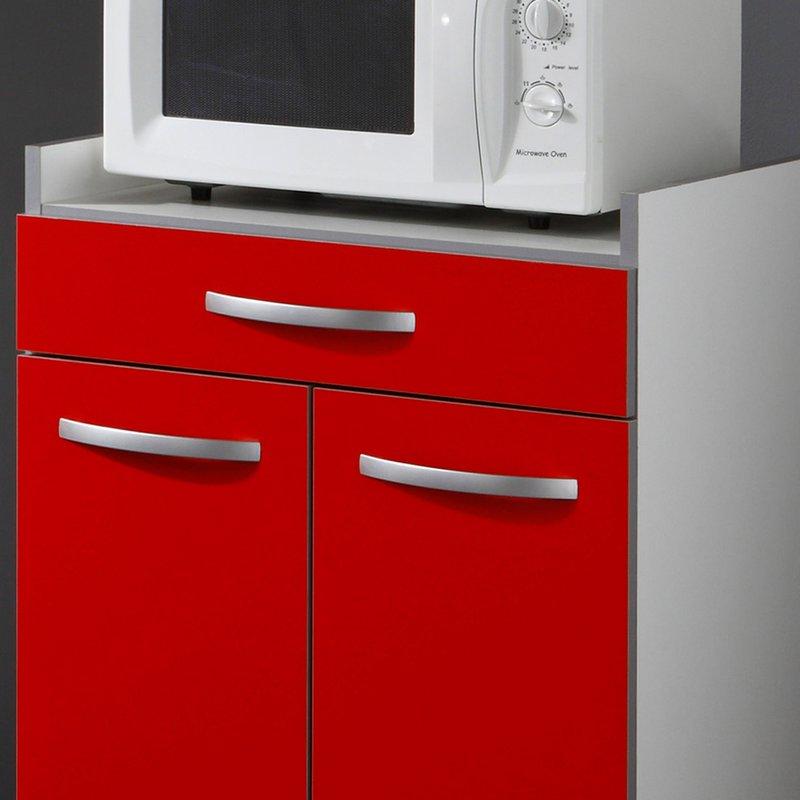 desserte cuisine 60x45x82cm coloris rouge maison et styles. Black Bedroom Furniture Sets. Home Design Ideas