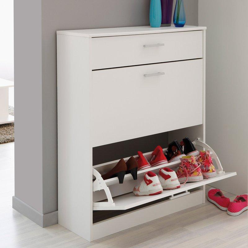 Meuble chaussures 3 compartiments 80x29x100cm coloris - Meubles a chaussures conforama ...