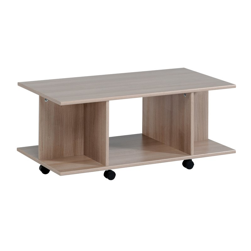table basse roulettes 88x43x38cm coloris bruges maison et styles. Black Bedroom Furniture Sets. Home Design Ideas
