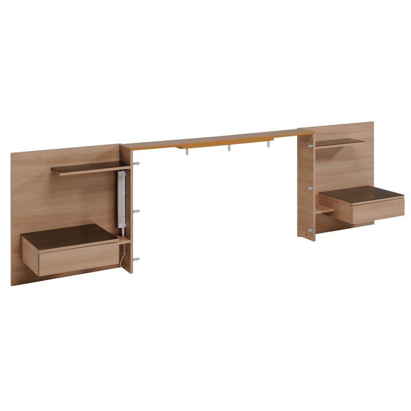 ensemble lit 140x190cm encadrement de lit coloris bruges. Black Bedroom Furniture Sets. Home Design Ideas