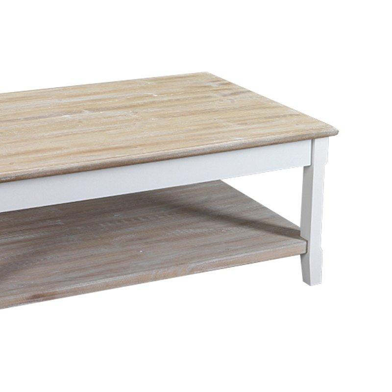 Table basse 2 plateaux en bois 100x60x40 cm coloris - Table basse 3 plateaux ...
