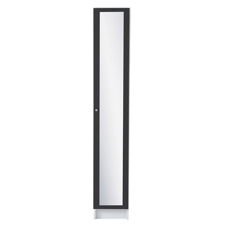Colonne 1 porte miroir 30x31x185cm coloris gris anthracite for Colonne de salle de bain 1 porte miroir