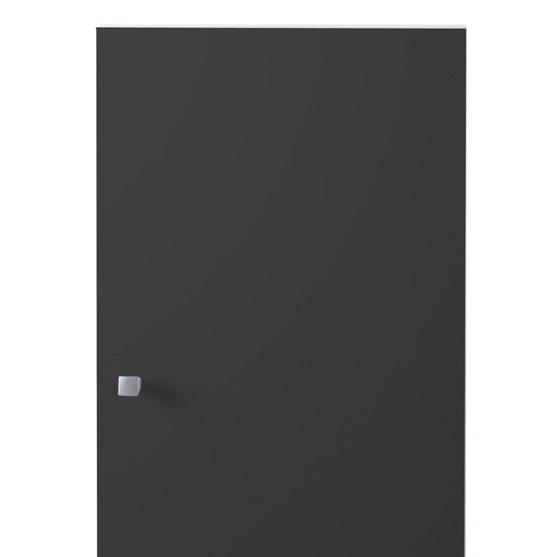 Meuble haut 1 porte 30x31x56cm coloris gris anthracite for Meuble haut salle de bain gris