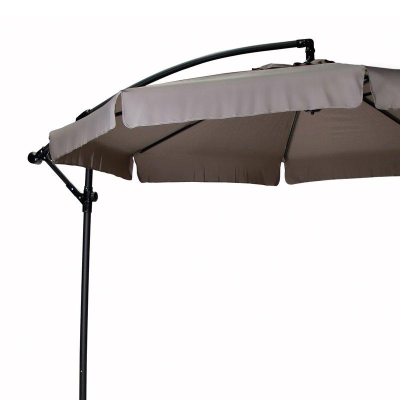 parasol d port rond diam tre 3m coloris taupe maison et styles. Black Bedroom Furniture Sets. Home Design Ideas