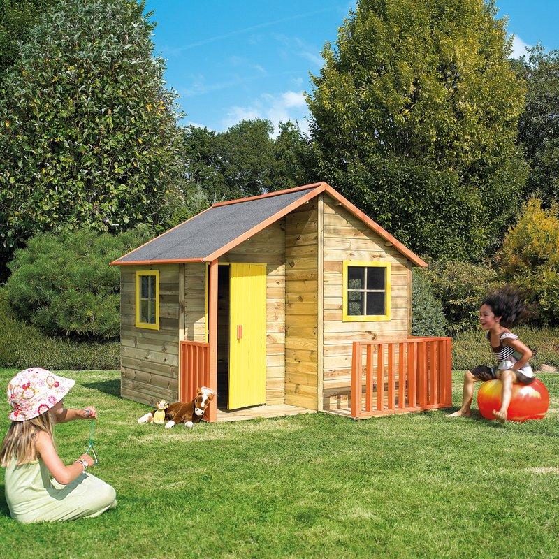 maison de jardin en bois loulou 182x170x175cm maison et styles. Black Bedroom Furniture Sets. Home Design Ideas