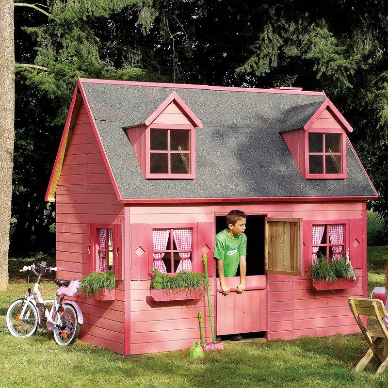 Maison de jardin en bois rosalie 248x160x240cm maison et styles - Maison en bois jardin ...