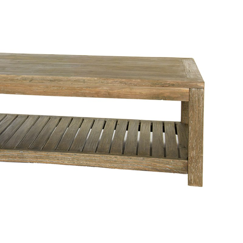 Table basse en bois brut vieilli 120x65x45cm lausanne for Table en bois brut