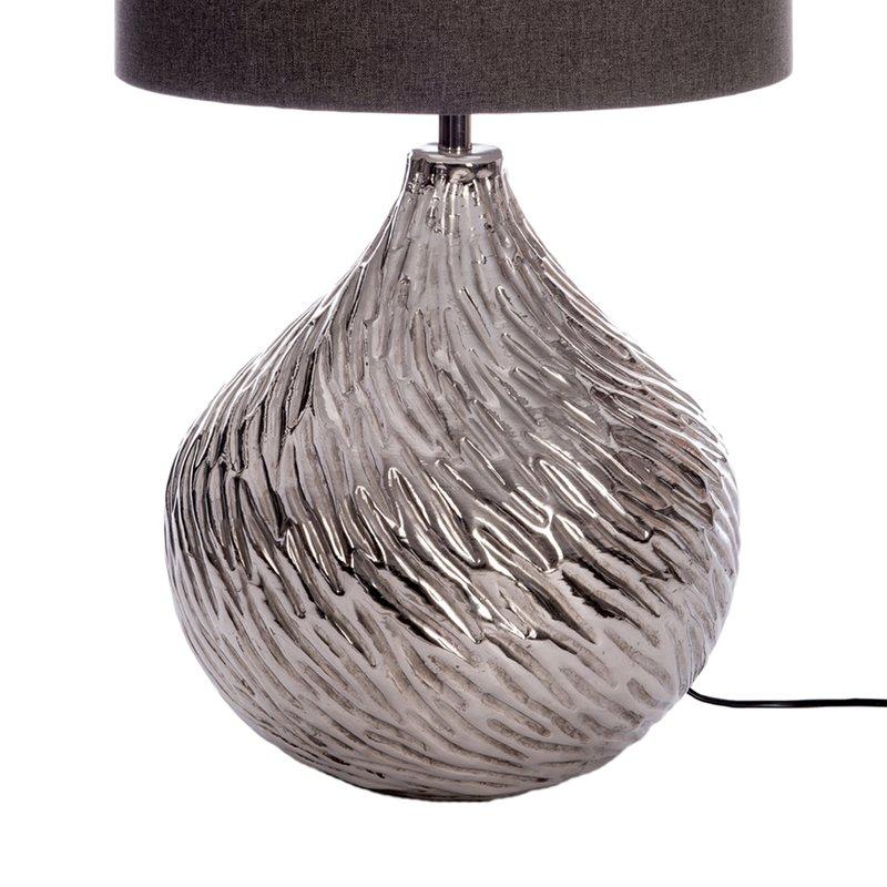 Goutte Aluminium Grisé Pied Lampe Taupe Abat Jour Coloris D'eau htrxBdCsQ