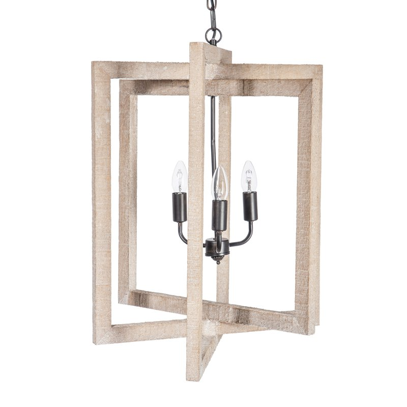 Lustre Design Rectangulaire 155x36x40cm Coloris Bois Naturel