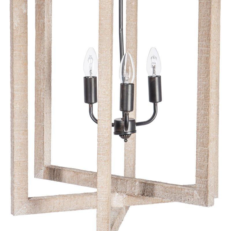 lustre design rectangulaire 155x36x40cm coloris bois naturel maison et styles. Black Bedroom Furniture Sets. Home Design Ideas