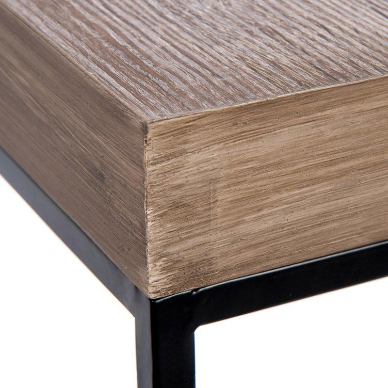 Ensemble de 2 sellettes 110x35x35cm coloris bois et métal noir ...