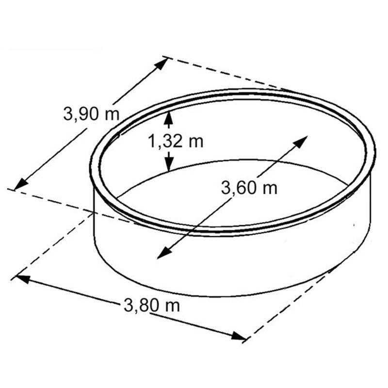 Piscine hors sol acier aspect bois diam tre 3 90m osmose - Piscine trigano osmose ...