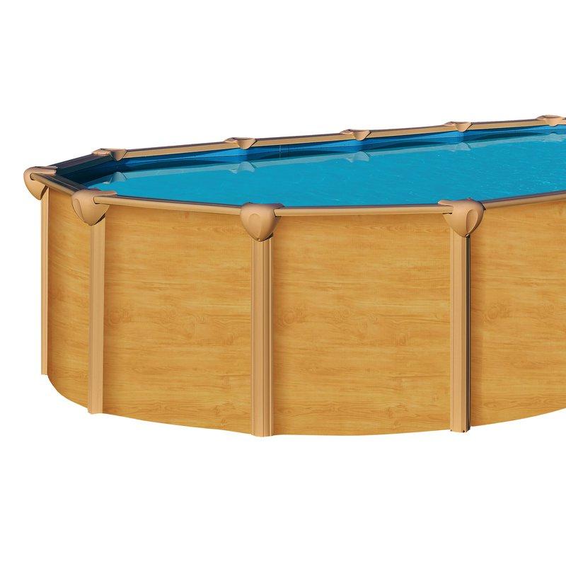 Piscine hors sol acier aspect bois 7 55 x 3 90 m osmose for Piscine hors sol aspect bois