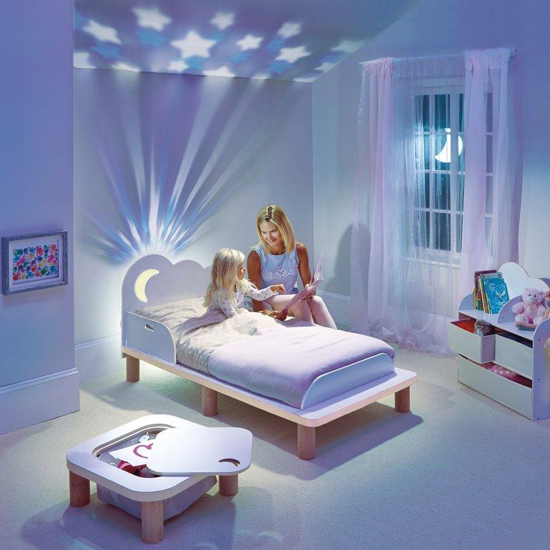 lit clair avec chevet int gr 140x70cm coloris blanc maison et styles. Black Bedroom Furniture Sets. Home Design Ideas