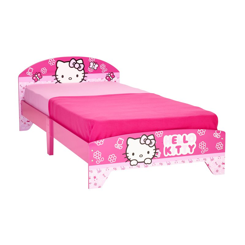 lit hello kitty 190x90cm coloris rose maison et styles. Black Bedroom Furniture Sets. Home Design Ideas
