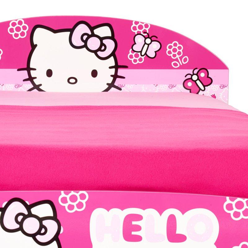lit hello kitty 190x90cm coloris rose maison et styles. Black Bedroom Furniture Sets. Home Design Ideas