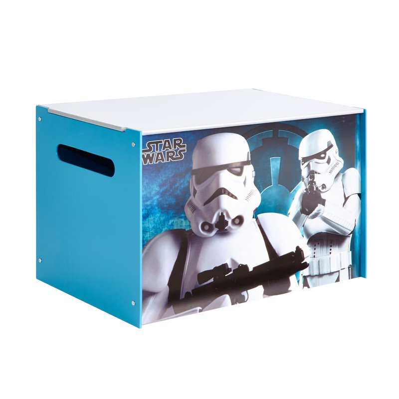 coffre de rangement star wars coloris bleu et blanc maison et styles. Black Bedroom Furniture Sets. Home Design Ideas