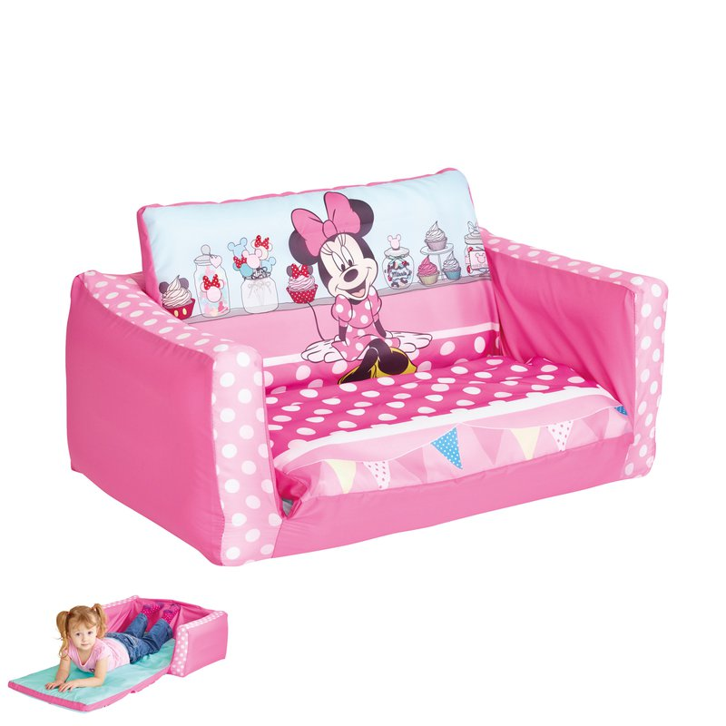 Canap lit gonflable minnie 105x68x26cm coloris rose maison et styles - Canape lit gonflable ...
