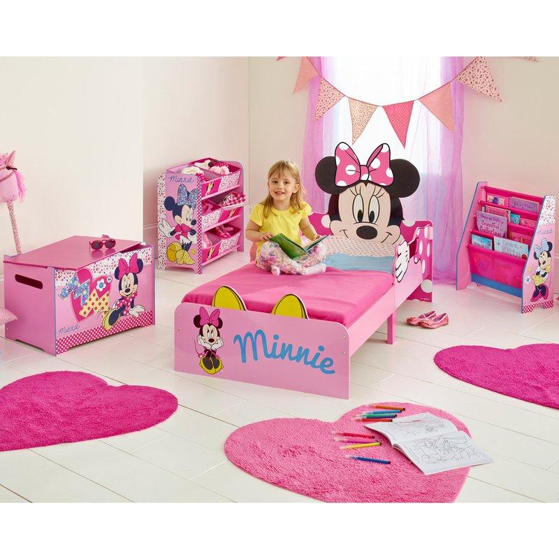 lit minnie 140x70cm avec t te de lit minnie coloris rose maison et styles. Black Bedroom Furniture Sets. Home Design Ideas