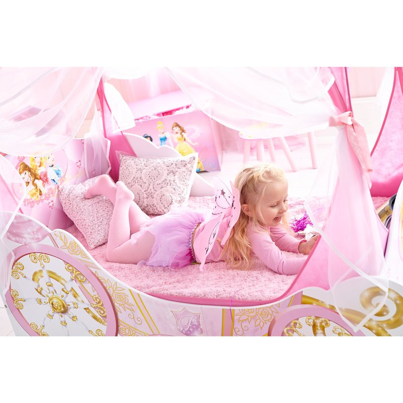 lit carrosse princesses disney rangements 140x70cm. Black Bedroom Furniture Sets. Home Design Ideas