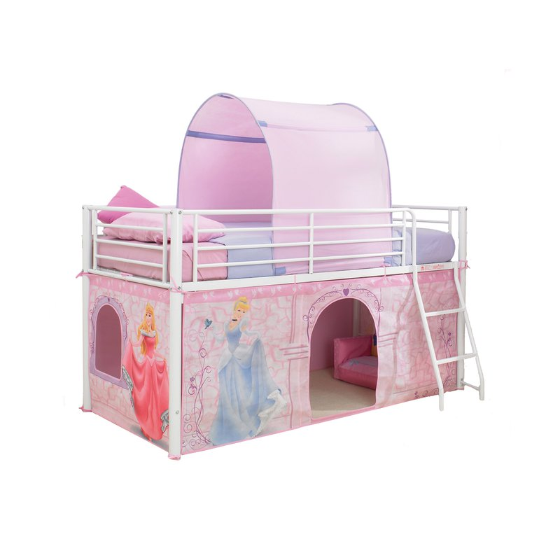 lit mezzanine m tal habillage princesses disney 190x90cm maison et styles. Black Bedroom Furniture Sets. Home Design Ideas