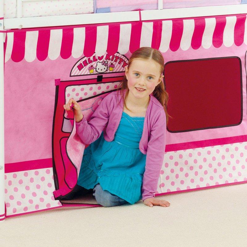 lit mezzanine m tal habillage hello kitty 190x90cm maison et styles. Black Bedroom Furniture Sets. Home Design Ideas