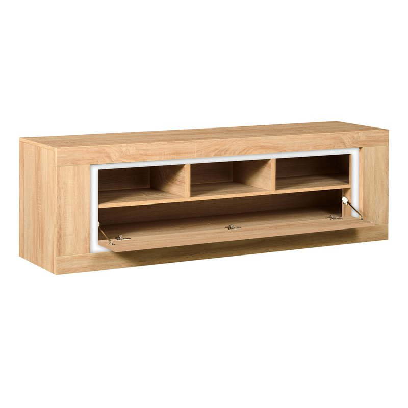 Banc tv 180x45x55cm 1 abattant bandeau r versible for Banc tv chene