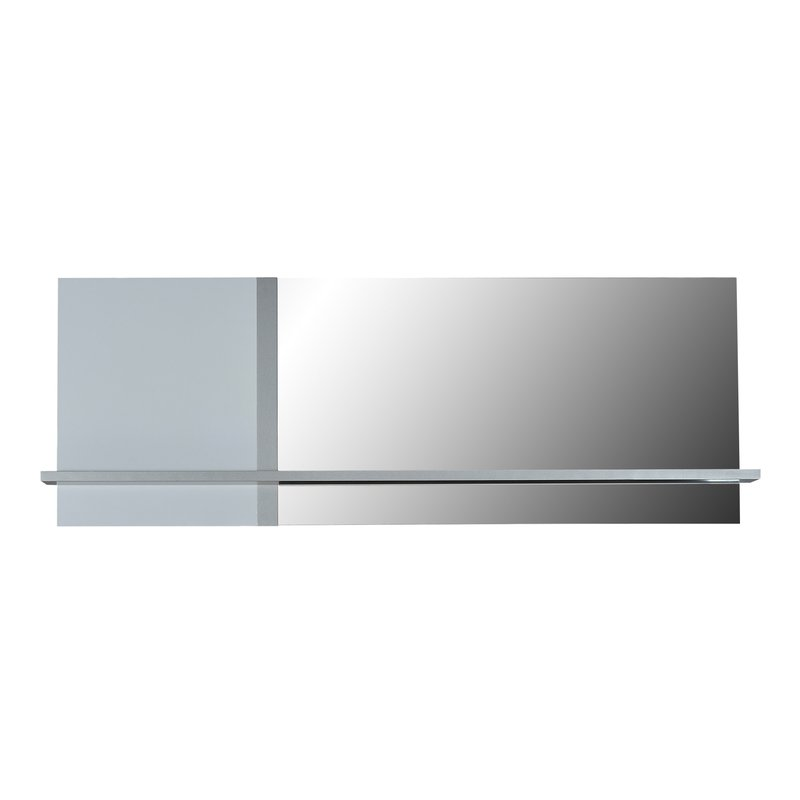 miroir avec tablette 173x17x61cm coloris blanc laqu et chrome maison et styles. Black Bedroom Furniture Sets. Home Design Ideas