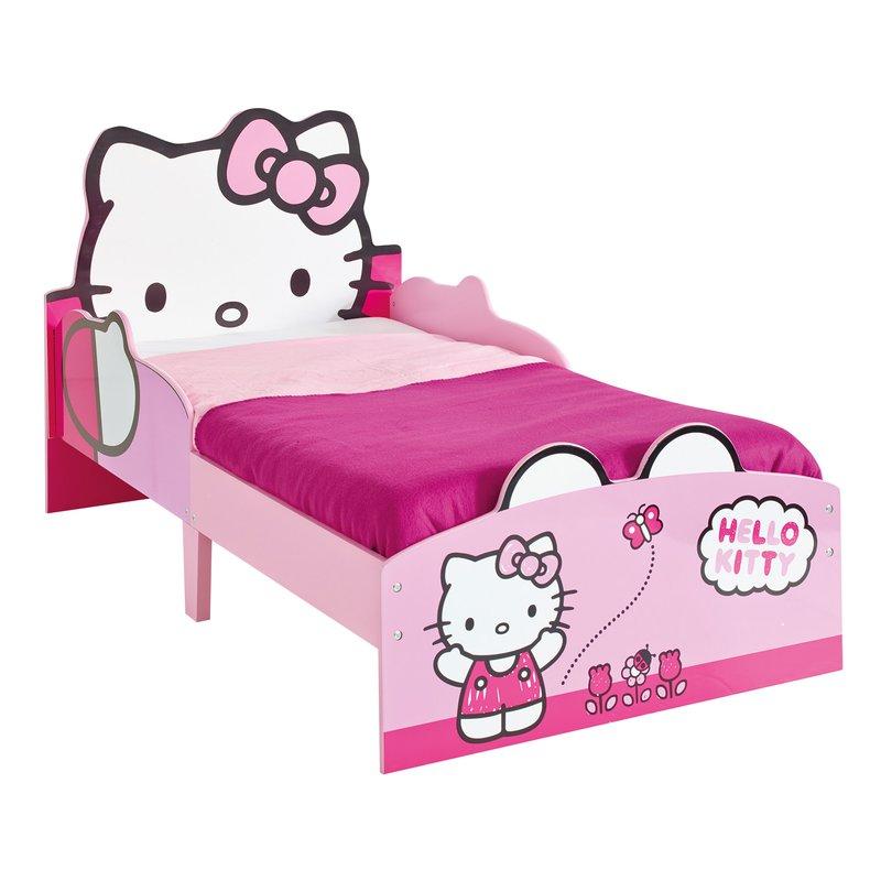 Lit hello kitty 140x70cm avec t te de lit chevet assorti - Table de chevet hello kitty ...