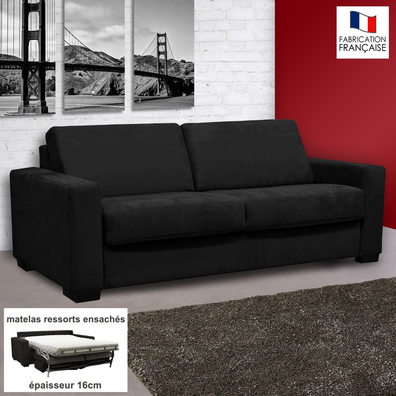 canape convertible microfibre 3 places 28 images louer un canap 233 3 places convertible en. Black Bedroom Furniture Sets. Home Design Ideas