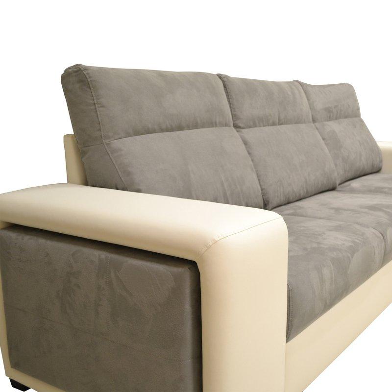 canap d 39 angle r versible convertible pu microfibre blanc. Black Bedroom Furniture Sets. Home Design Ideas