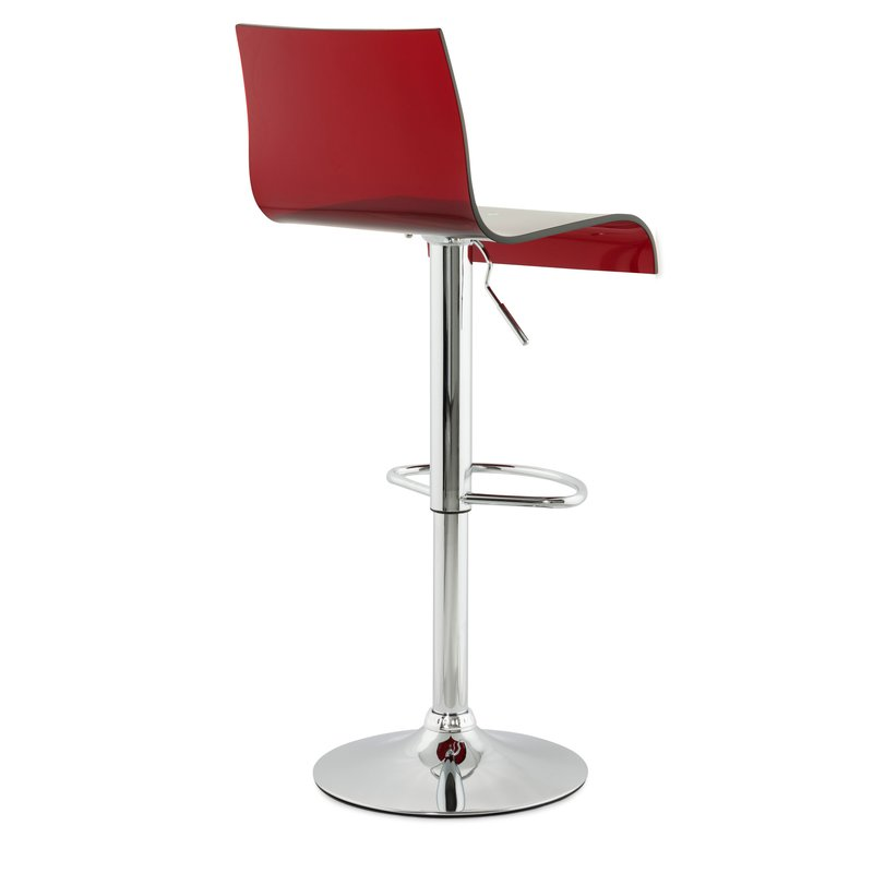 Lot de 2 tabourets de bar design 41x44x104cm plex rouge maison et styles - Tabouret de bar design rouge ...