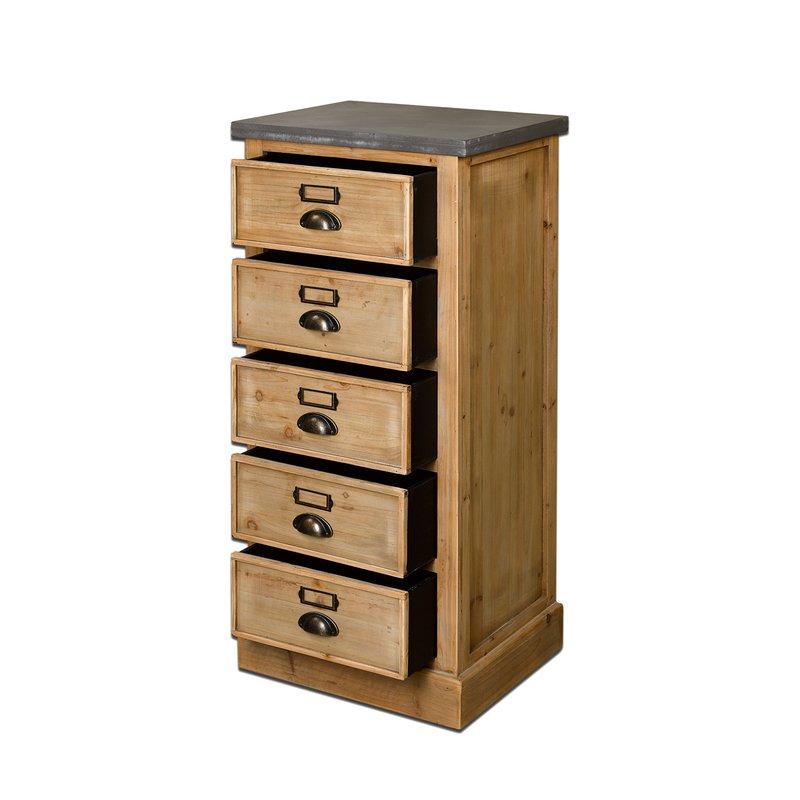 chiffonnier 5 tiroirs en bois maison et styles. Black Bedroom Furniture Sets. Home Design Ideas