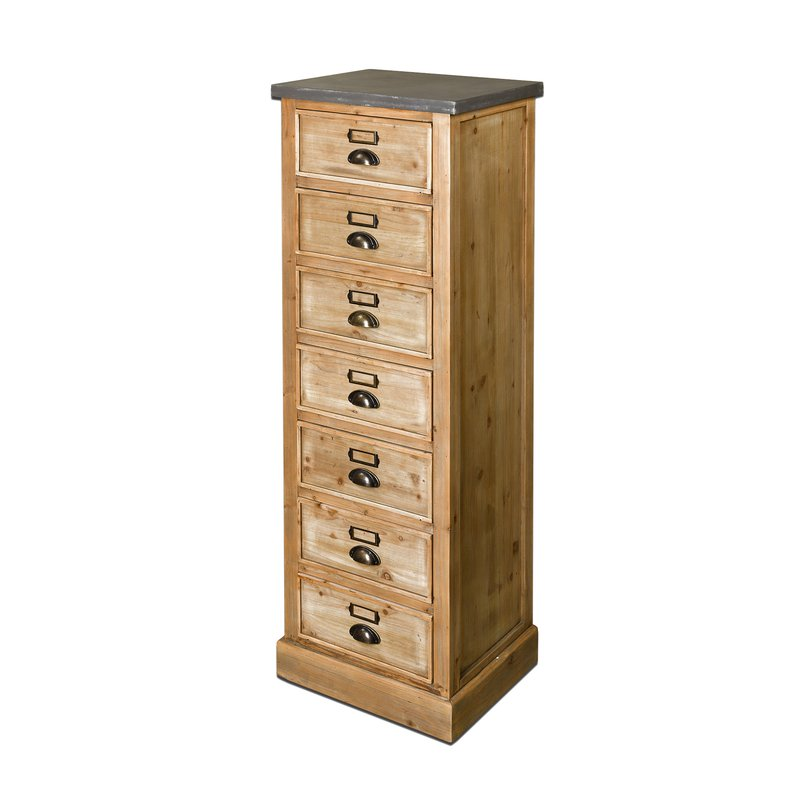 chiffonnier 7 tiroirs en bois maison et styles. Black Bedroom Furniture Sets. Home Design Ideas