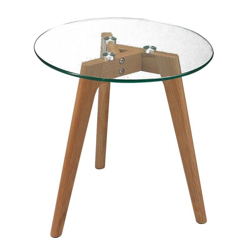 lot de 2 tables gigognes pieds en ch ne plateau en verre maison et styles. Black Bedroom Furniture Sets. Home Design Ideas