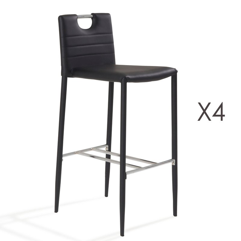 Tabouret de bar lot de 4 - Imitation mobilier design ...