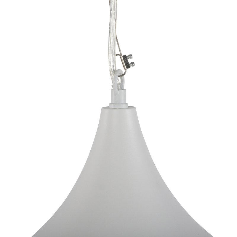 Lampe suspendue design 35x35x30cm bey blanc maison et for Architecture suspendue