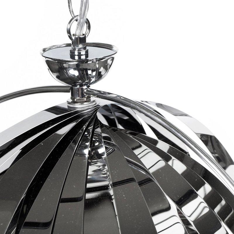 Lampe suspendue design 33x40x44cm emiio chrome maison for Lampe suspendue design
