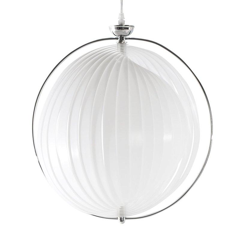 lampe suspendue design 33x40x44cm emiio blanc maison. Black Bedroom Furniture Sets. Home Design Ideas
