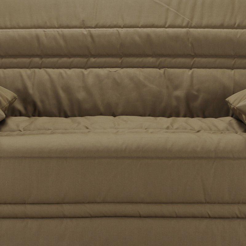 Banquette lit accord on 140cm mousse 26kg uni taupe maison et styles - Banquette lit mousse ...