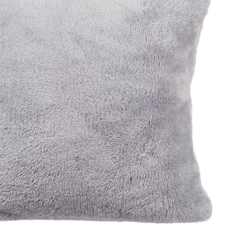 Lot de 2 coussins 40x40cm en coton coloris gris perle - Maison gris perle ...
