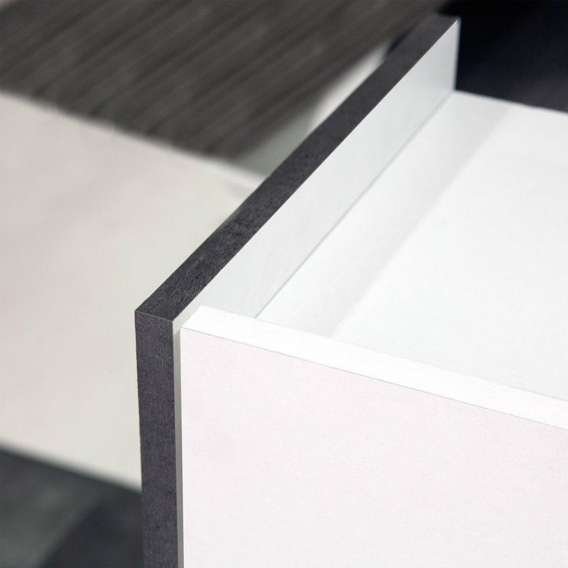 meuble de salle de bain 2 portes effet b ton fa ades blanches maison et styles. Black Bedroom Furniture Sets. Home Design Ideas
