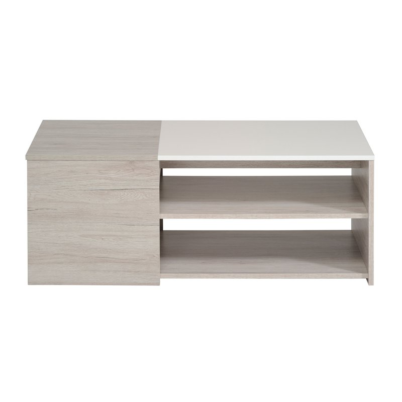 table basse 107x54x41cm ch ne gris et blanc laqu zola maison et styles. Black Bedroom Furniture Sets. Home Design Ideas