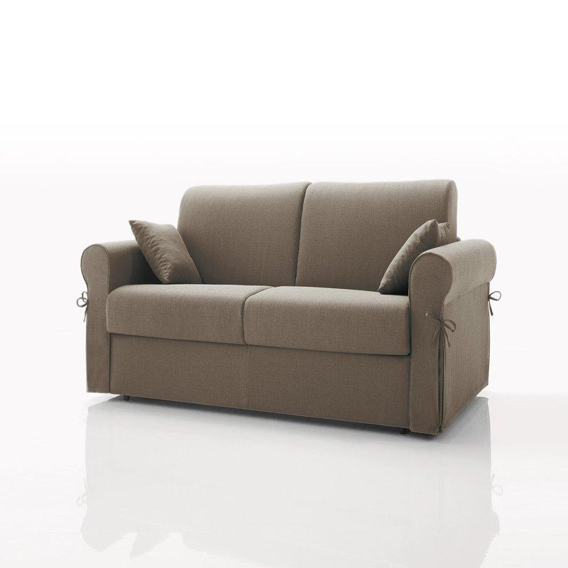 canap convertible 2 places tissu d houssable caf maison et styles. Black Bedroom Furniture Sets. Home Design Ideas
