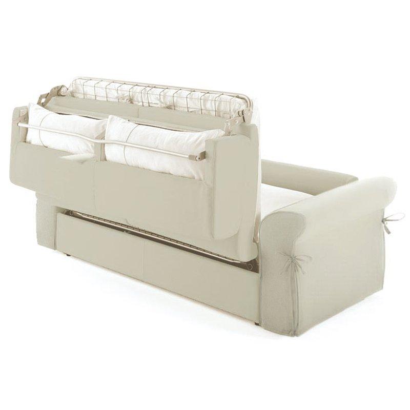 Canap convertible 2 places tissu d houssable ivoire maison et styles - Canape dehoussable convertible ...
