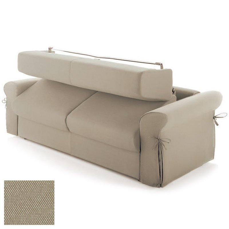 canap convertible 3 places tissu d houssable cru. Black Bedroom Furniture Sets. Home Design Ideas