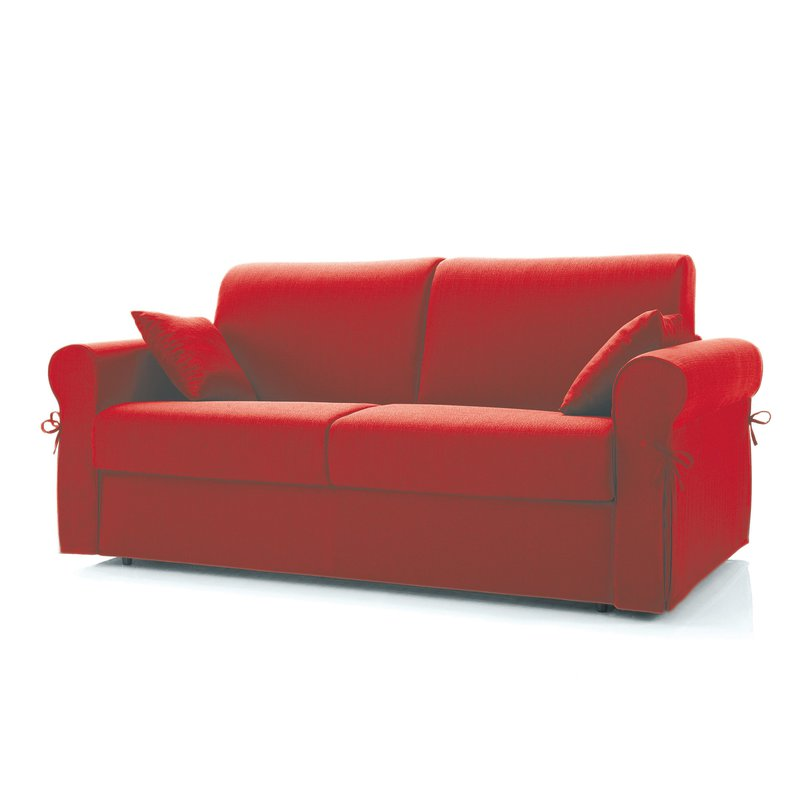 Canap convertible 3 places tissu d houssable rouge - Canape convertible dehoussable ...