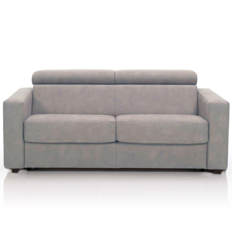 canap convertible 3 places tissu d houssable taupe maison et styles. Black Bedroom Furniture Sets. Home Design Ideas